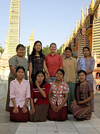 Teachers in Monywa, Myanmar