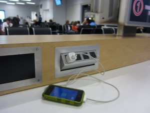 Computer stations by the gates