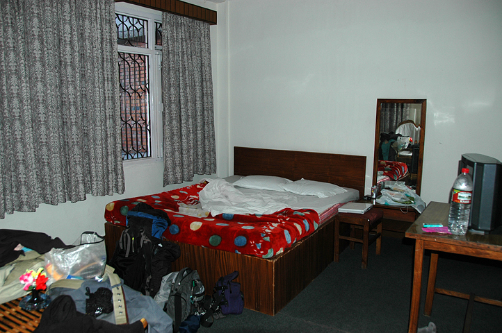 First hotel room in Kathmandu, Nepal