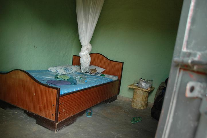 Hotel room in Turmi, Ethiopia