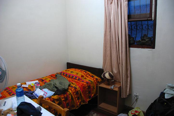 Hotel room in Aantananarivo, Madagascar