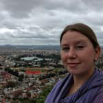 Megan on a Tana hilltop