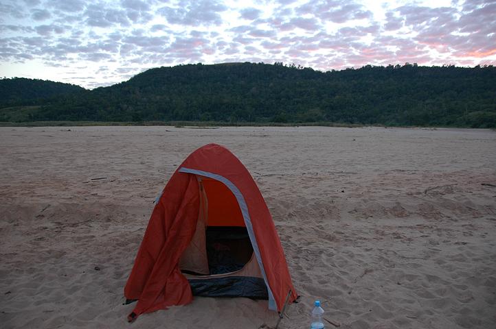 Camping on the Tsiribihina River, Madagascar